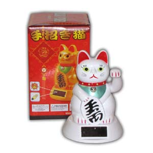 Oriental Fortune Cat - Solar (White)