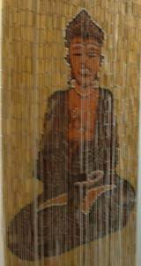 Bamboo Beaded Door Curtain - Buddha