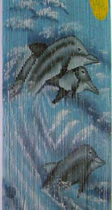 Bamboo Beaded Door Curtain - Three Dolphins