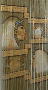 Bamboo Beaded Door Curtain - Egyptian