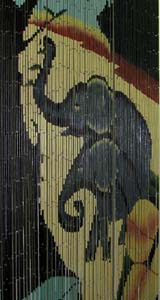 Bamboo Beaded Door Curtain - Elephant