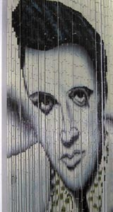 Bamboo Beaded Door Curtain - Elvis Presley