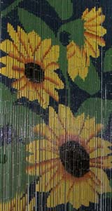 Bamboo Beaded Door Curtain - Sunflower
