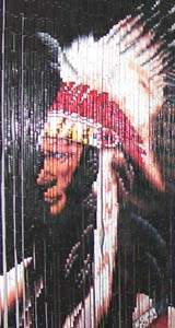 Bamboo Beaded Door Curtain - Indian