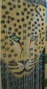 Bamboo Beaded Door Curtain - Leopard