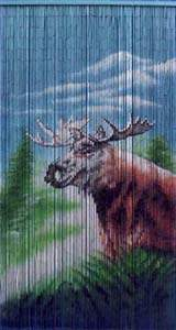 Bamboo Beaded Door Curtain - Moose