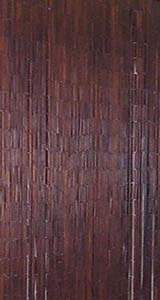 Bamboo Beaded Door Curtain - Plain Brown Color