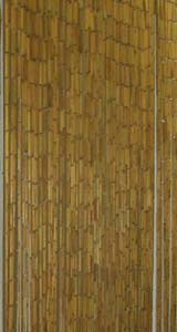 Bamboo Beaded Door Curtain - Plain Natural