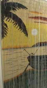 Bamboo Beaded Door Curtain - Sunset