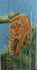 Bamboo Beaded Door Curtain - Blue Sky Tiger
