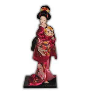 Oriental Japanese Geisha, with Fan