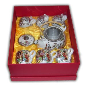 Oriental Teaset with Gift Box - Chinese Ladies