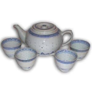 Porcelain Teaset - Blue (Small)