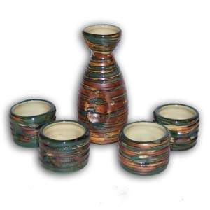 5 pcs Japanese Sake Set - Multi-color