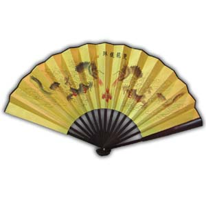 Oriental Chinese Hand Fan - Dragon
