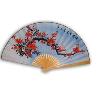19-in Hanging Fan - Flower, Blue