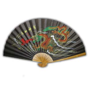 35-in Hanging Fan - Dragon II, Black