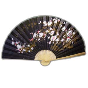 35-in Hanging Fan - Flower, Black