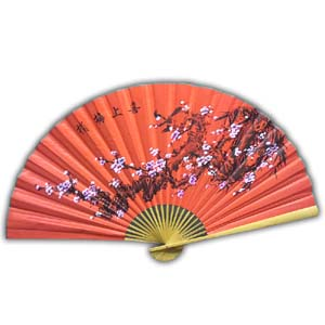 35-in Hanging Fan - Flower, Red II