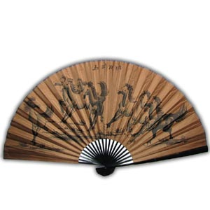 35-in Hanging Fan - Black Eight Horses (Brown)