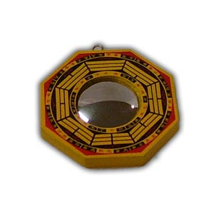 Chinese Feng Shui Wooden Bagua Mirror