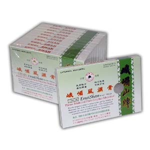 10 Packs of Chinese Medicated Emei Plaster (5 sheets/pack)