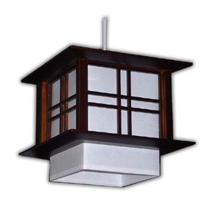 Japanese Hanging Lamp - Akida (Brown)