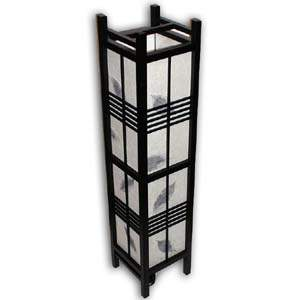 Japanese Floor Lamp - Akida, Leaves (Black)
