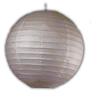 Rice Paper Lantern - Round, 6in, White