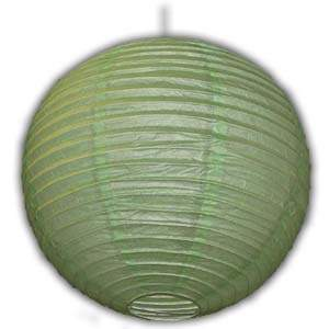 Rice Paper Lantern - Round, 16in, Light Green