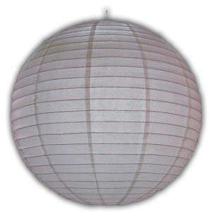 Rice Paper Lantern - Round, 34in, White