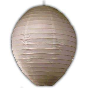Rice Paper Lantern - Oval, 16in, White