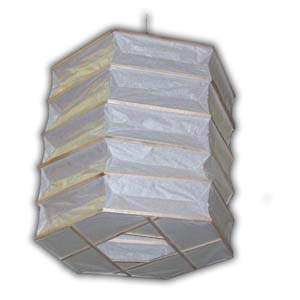 Rice Paper Lantern - Hexagon, Natural Matchstick