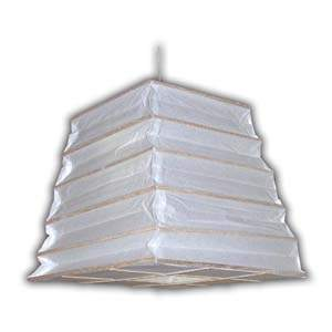 Rice Paper Lantern - Ladder Form (Trapezium), Natural Matchstick