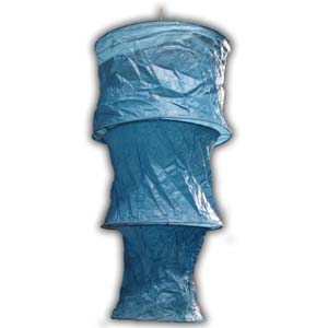 Rice Paper Lantern - Three Levels, Round, Blue