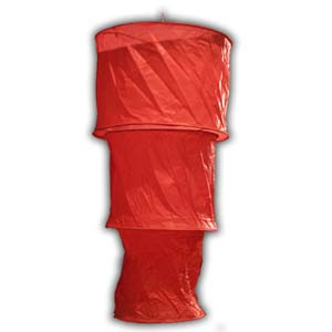 Rice Paper Lantern - Three Levels, Round, Red