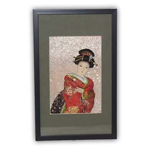 Oriental Japanese Geisha Picture - Small, #001
