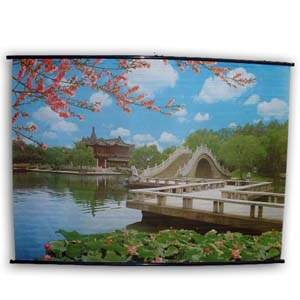 Oriental Poster - Park with Bridge