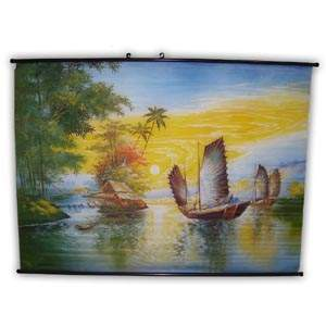 Oriental Poster - Lakes & Boats