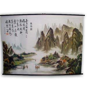 Oriental Poster - Landscape with Mountains