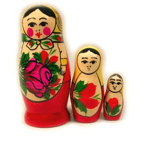 Russian Nesting Doll - Traditional Smyonov (3 Pieces)
