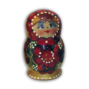 Russian Matreshka Nesting Doll, Set of 5, Gold