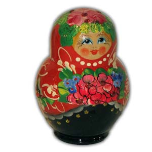 Russian Matreshka Nesting Doll, Set of 5