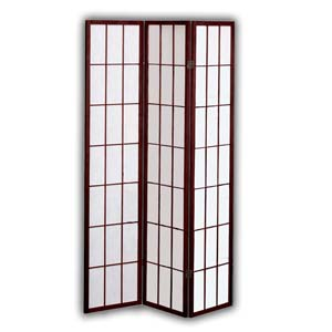 Shoji Rice Paper Folding Screen Room Divider - 3 Panels (Brown)