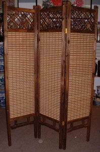 Bamboo Wooden Screen Room Divider - 3 Panels