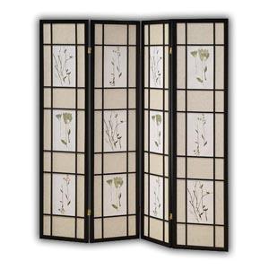 oriental village paravents paravent oriental en bois et corde 4 panneaux naturel. Black Bedroom Furniture Sets. Home Design Ideas