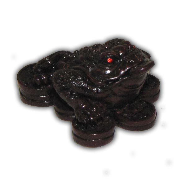 Feng Shui Oriental Chinese Three Legs Frog - Small, Red