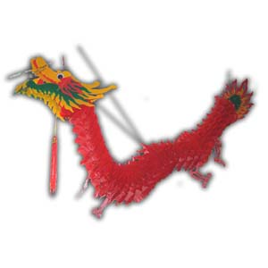 36-in Plastic Hanging Dragon Decoration