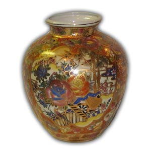 9 inches Oriental Chinese Porcelain Vase
