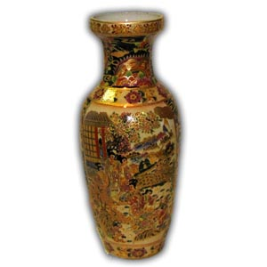 "Amazon.com: Hand painted oriental floor vase, 36""H porcelain"